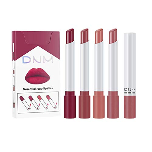 Pageantry 4 Stück Lippenstifte Lipgloss Lippenstift Kosmetik Make up Makeup Lippenstift Soft Matte Lip Cream