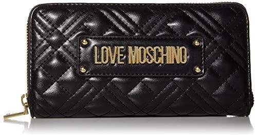Love Moschino Damen Jc5600pp1a Geldbörse, Schwarz (Nero), 2x10x19 centimeters