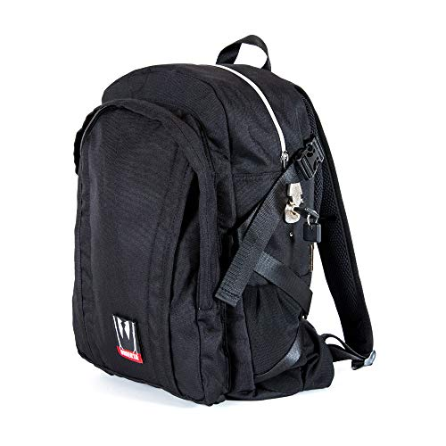 Dime Bags Omerta Transporter Backpack - 100% Smell Proof, Carbon Filter Lined Bag with Heavy Duty Lock