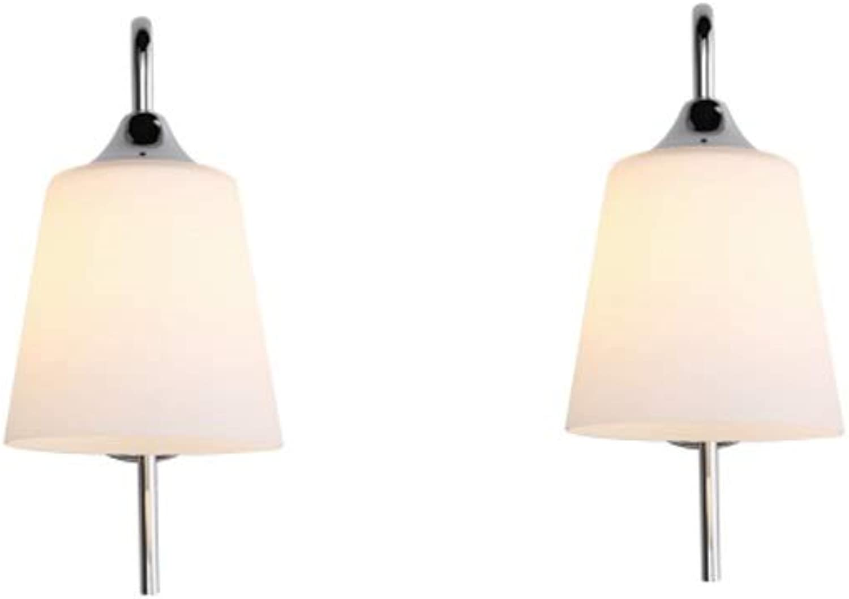 DEPAOSHJ Einfache moderne persnlichkeit kreative flur led wandleuchte 2 packs esszimmer wohnzimmer dekorative wandleuchte e27 basis garderobe beleuchtung wandleuchte (Farbe   2 packs)
