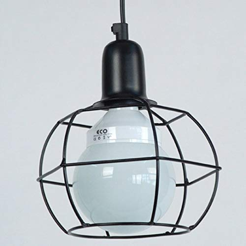 Tosel 12233 Suspension Hex Globe Acier 100 W E27 Noir