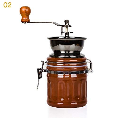 Qingsb Keramische Molen Klassieke Houten Handmatige Koffiemolen Mini Gezonde Hand Retro Maken Koffiemolen Power DIY Tools, 02