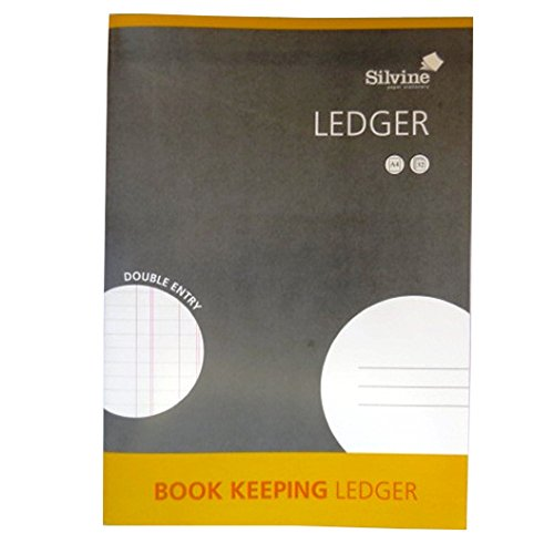 Silvine Ledger Book Keeping A4 Double Entry 32 Pages 16 Sheets