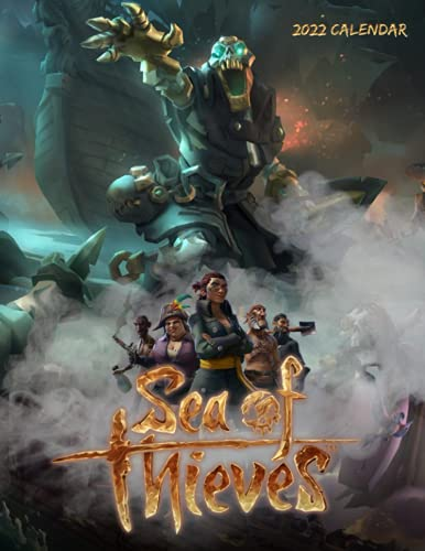 Sea of Thieves Calendar 2022: Game calendar. This incredible cute calendar july 2021 to december 2022 with high quality pictures. Gaming calendar 2021-2022