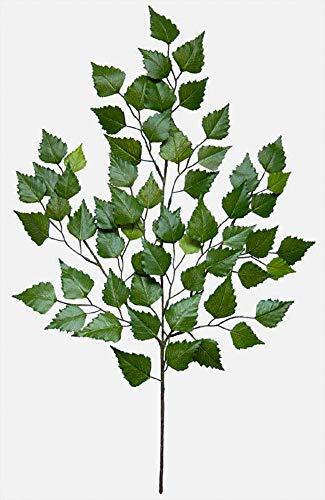 Seidenblumen Roß Birkenzweig 70cm mit 60 Blättern DA (1 Stück / 12 Stück) künstlicher Zweig Birke