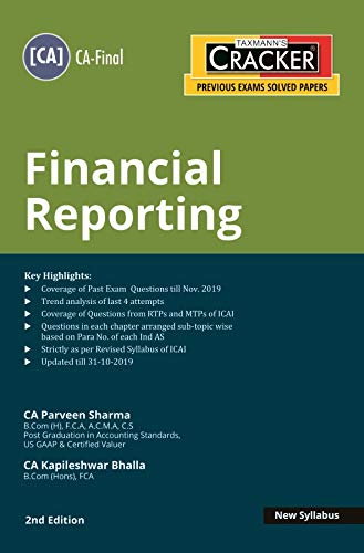 Taxmann's CRACKER Financial Reporting (CA-Final-New Syllabus)(2nd Edition 2020)