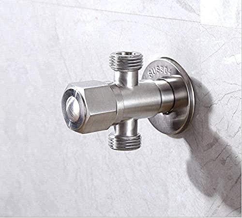 WYZZGZQDP Grifo Exterior Grifo Válvula de Agua del Grifo Válvula de 2 vías Desviador Válvula de Inodoro Control Baño Accesorios de Cocina Grifo de jardín Grifo Exterior