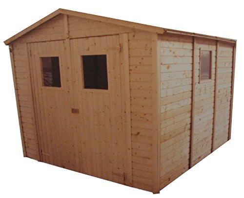 CADEMA Gartenhaus aus Holz 3,3m x 3,9m, (16mm) mit Fenstern, inkl. Fußboden, SEVILLA II– Gerätehaus