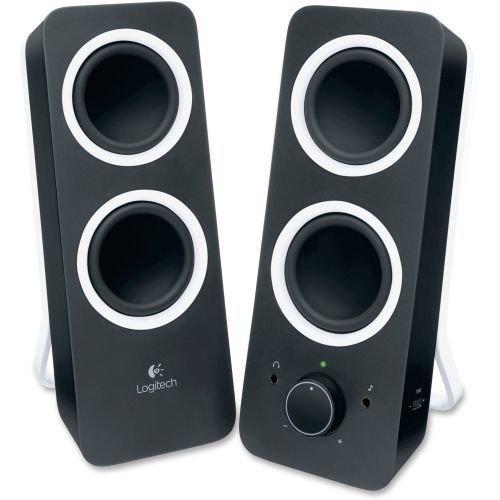 Logitech Z200 2.0 Speaker System - Black - LED Indicator - TAA...