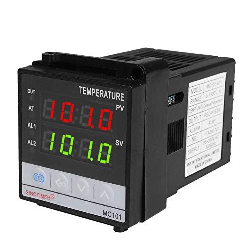 Pudincoco SINOTIMER Corto termostato de entrada Regulador de temperatura SSR Salida de relé Calor Enfriamiento Alarma PID Controlador de temperatura