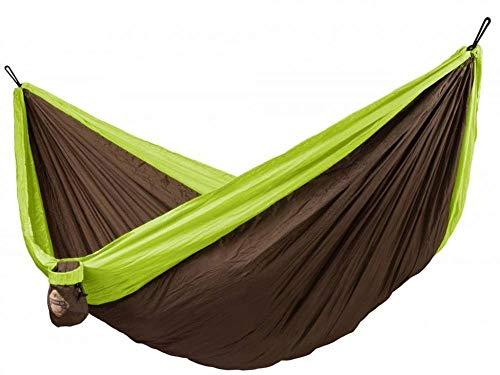 LA SIESTA - Colibri Green - Hamac de voyage double avec fixation