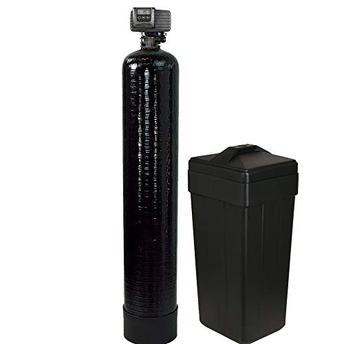 ABCwaters built Fleck 5600sxt Water Softener 64,000 Grain Capacity (Fine Mesh for Iron Removal)