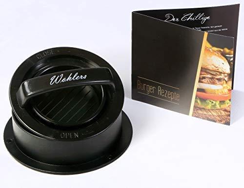 Prasa do hamburgera z książką z przepisami (może nie być dostępna w języku polskim), powłoka nieprzywierająca do mini burgerów, podstopek, cheeseburgerów, grilla, grilla, grilla, grilla, kuchennego