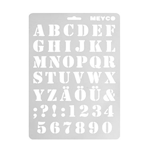 VAILANG Letra Alfabeto Número Capas Plantillas Capas Pintura Scrapbooking Sellos Álbum