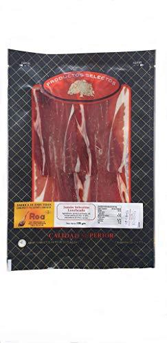 Jamón Ibérico Curado y Cortado en Lonchas al Vacío (Pack 1x100g) | Jamón de Pata Negra Deshuesado y Loncheado | Cerdos Criados en la Dehesa de Extremadura al Aire Libre con Bellotas | Calidad Suprema