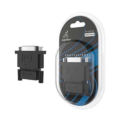 Adaptador Conversor HDMI Hembra a DVI 24+1 Macho Conector Clavija Baño Oro Felixmania®
