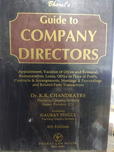 Guide to company directors 2019 by Dr.K.R.CHANDRATRE