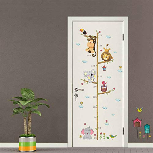 VCTQR Muursticker Animal Patroon Kinderen Groeimeter Muurstickers voor Kinderkamers Decor Groeidiagram Sticker