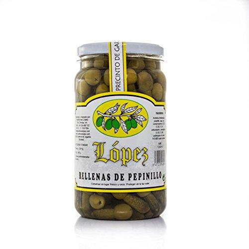Aceitunas Rellenas de Pepinillos - Minikimbos - Envase PET 1.200 g Peso Neto | Envío Gratis