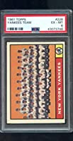 1961 Topps #228 New York Yankees Team Photo MLB PSA 6 Graded Baseball Card