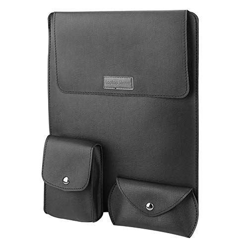Maxjaa 13 Inch Laptop Sleeve with Stand, PU Leather Ultra Slim Sleeve Case Compatible with MacBook Pro 13'(A2159), MacBook Air13' (A1932/A1466), MacBook 12'(A1534), Surface Go and other 13' Ultra Book