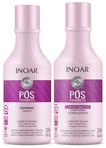 Kit Duo Shampoo e Condicionador Pós Progress, Inoar, 250 Ml