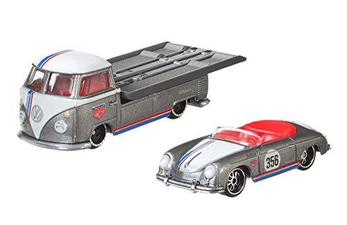 Hot Wheels HW Porsche 356 Speedster + Volkswagen Transporter T1 - Real Riders Team Transport 1:64