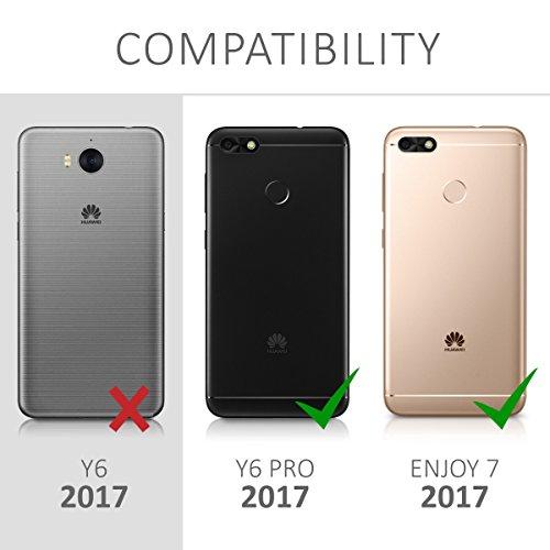 kwmobile Huawei Y6 Pro (2017) / Enjoy 7 Hülle - Handyhülle für Huawei Y6 Pro (2017) / Enjoy 7 - Handy Case in Indische Sonne Design Blau Pink Transparent - 6