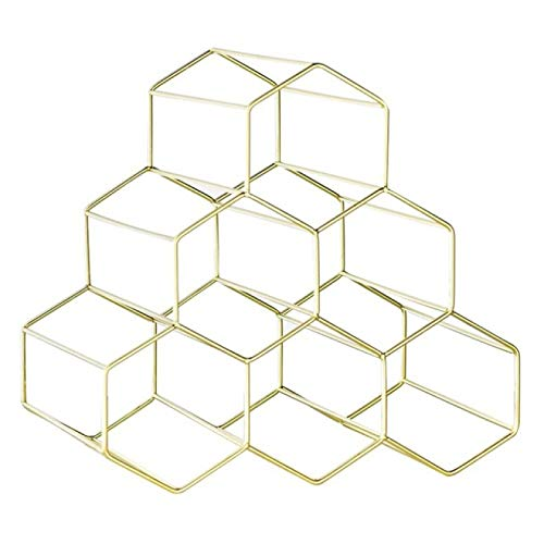FSSQYLLX Estante para Copas de Vino Porta Botellas de Vino Estante Creativo Práctico Independiente Diseño de Estante Hexagonal para 6 Botellas