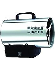 Einhell HGG 110/1 Niro (DE/AT) heteluchtgenerator (verwarmingsmantel van verzinkt staalplaat, behuizing van roestvrij staal, piëzo-ontsteking, terugbrandbeveiliging)