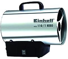 Einhell hot air generator HGG 110/1 Niro (DE/AT) (verwarmingsvest gemaakt van gegalvaniseerde stalen plaat, behuizing gemaakt van nirostablech, piëzo ontsteking, back burn-back)*