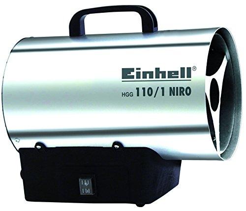 Einhell Heißluftgenerator HGG 110/1 Niro (DE/AT) (Heizmantel aus verzinktem Stahlblech, Gehäuse aus Nirostablech, Piezozündung, Rückbrandsicherung)