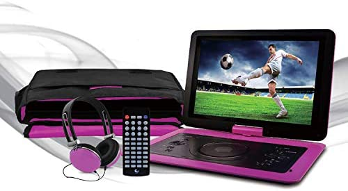Ematic 14 1 Portable DVD Player with Matching Headphones and Carrying Bag EPD142pr product image