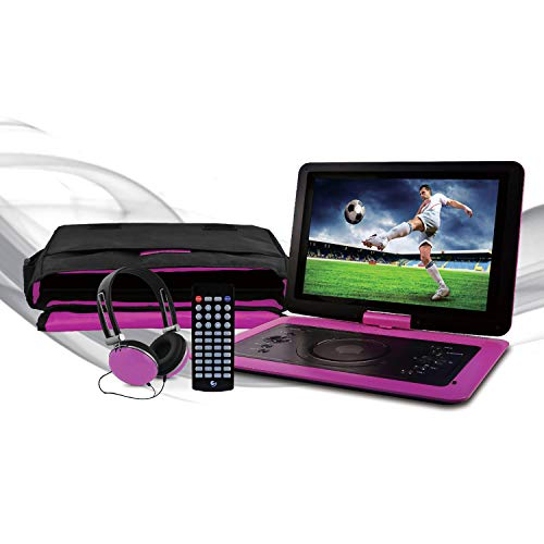 Ematic 14.1' Portable DVD Player with Matching Headphones and Carrying Bag - EPD142pr