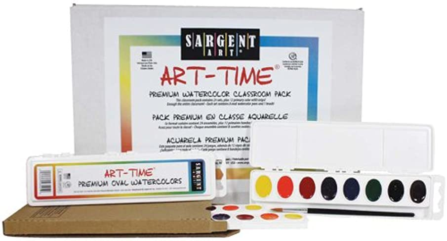 Sargent Art 24 Count Art-Time Premium Oval Watercolor Pack