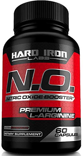Nitric Oxide Booster - Nitric Oxide Supplement with L Arginine & L Citrulline for Muscle Building, Vascularity, Pumps, Energy, & Heart Health - NO Booster Pre Workout - 60 Capsules