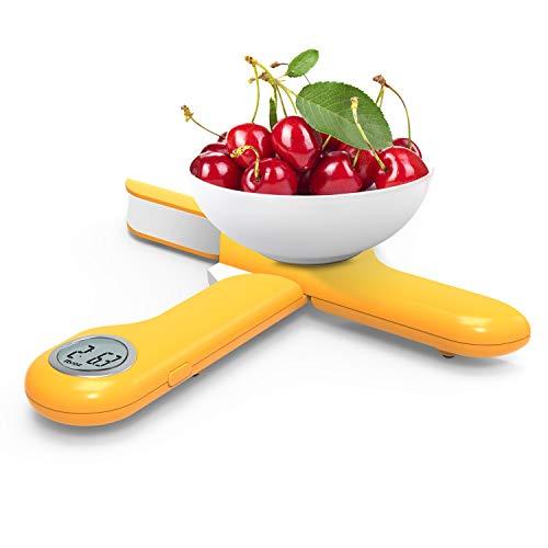 Camry Báscula Digital de Cocina, Mini Balanza Escala, Balanza de Alimentos Multifuncional, Peso de Cocina con Pantalla LED,5kg Azul (Naranja)