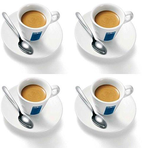 4 X Lavazza Espresso Tassen und Untertassen -Kapazität cc 75, height mm 58