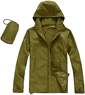 BEESCLOVER Men Women Quick Dry Hiking Jackets Outdoor Sport Skin Dust Coat Thin Waterproof UV Protection Camping Hoodie Top 3XL