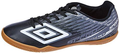 Tênis Indoor Speed V, Umbro, Adulto Unissex, Preto/Grafite/Branco, 42