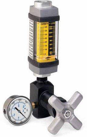 Hedland Flow Meters (Badger Meter Inc) H601A-015-TK - Flow Rate Hydraulic Flow Meter - 15 gpm Max Flow Rate, SAE-10 1/2 NPT in Port Size