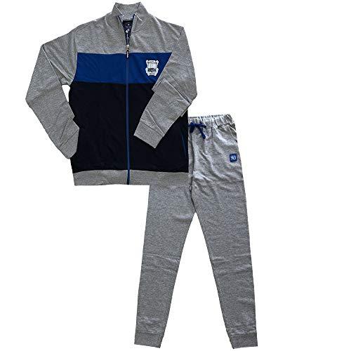 RenatoBalestra Tuta Homewear da Uomo in Cotone Leggero con Zip (XXL/7^)