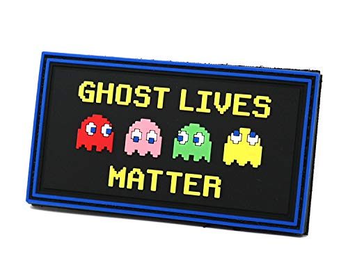Ghost Lives Matter PVC Rubber Tactical Patch | Retro Gaming Inspired Parody | Funny Morale Patch