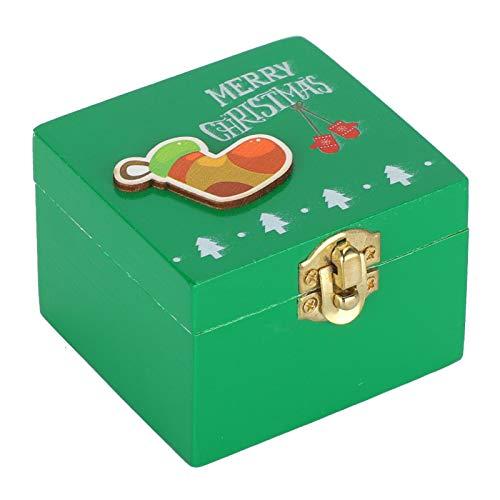 Suprimentos de decoração de Natal, caixa de música de Natal feita à mão com controle de relógio, decoração de Natal Amigos para crianças presentes de Natal