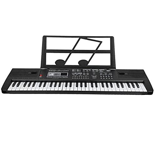 Tastiera per pianoforte a 61 tasti, tastiera elettronica portatile per insegnare la tastiera e il microfono del pianoforte digitale per principianti per bambini Boy Girl