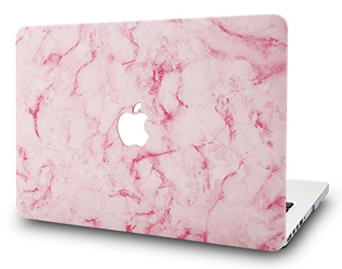 LuvCase Laptop Case for Old MacBook Pro 13' Retina Display (2015/2014/2013/2012 Release) A1502/A1425 Rubberized Plastic Hard Shell Cover (Pink Marble 2)