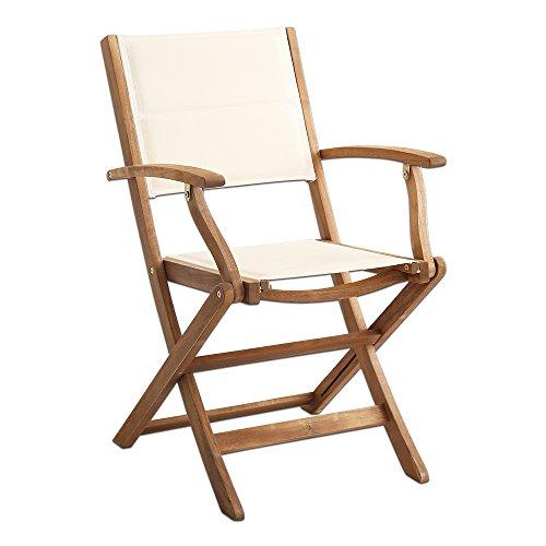 折りたたみガーデンテーブル・チェア肘付き(3点セット)人気素材のアカシア材を使用 | Yuel-ユエル-