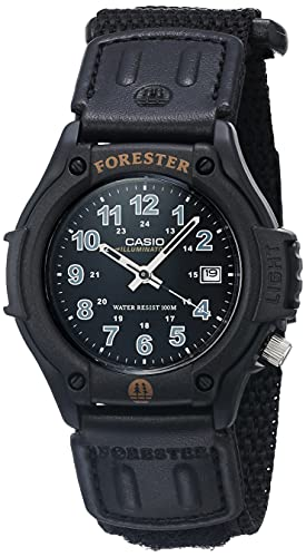 Casio - Reloj deportivo para hombre, correa de nailon de cuarzo, color negro, 22 (modelo: FT500WC-1BVCF)