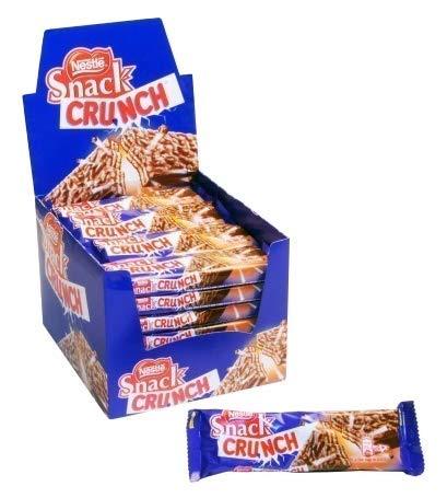 CRUNCH Snack Nestle - Barrita con chocolate y cereales - 30 Unidades