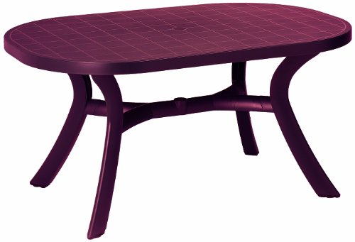 BEST 18511540 Tisch Kansas oval 145 x 95 cm, bordeaux